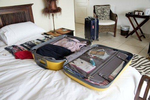 Unpacking luggage