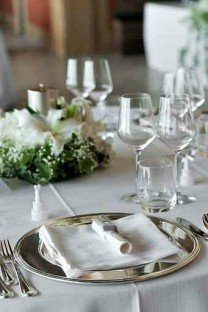 Yacht Stewardess Elegant Table Setting