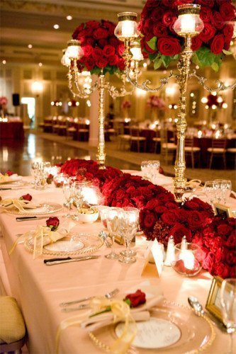 Red u0026 Gold themed Christmas table setting & Christmas Table Setting Ideas